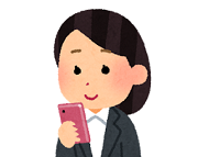 180cut_smartphone_businesswoman_stand_smile.png