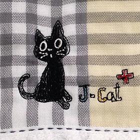 リュカさんにもらったタオルのくろねこの刺繍.jpg